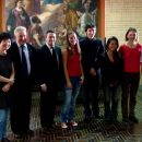 Violinists with Maxim Vengerov and Andrzej Wituski after preliminary selection hearings.